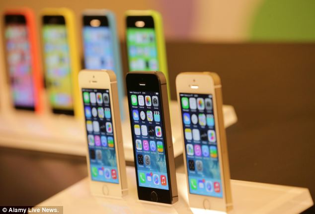 Sources 'familiar with the matter' said: 'The different timetables have been set as Apple does not want to repeat the mistake it made in 2013 when it launched the iPhone 5S (pictured front) and iPhone 5C (pictured back) simultaneously'