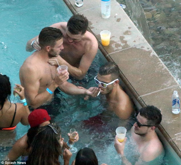 Time is running out: Jack Wilshere puffs on a cigarette during his holiday in Las Vegas for a stag weekend