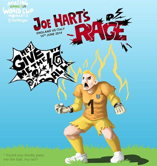 Hart attack: Joe Hart fumes at a ball boy who took his time returning the ball