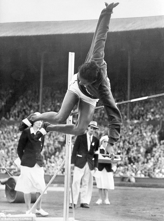 5.51: Davis' victory was the result of her gold medal jump of 5 feet six and 1/8 inches high