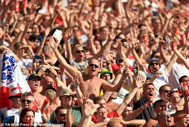 Loyal supporters: England fans who travelled to Brazil will feel let down by the performances