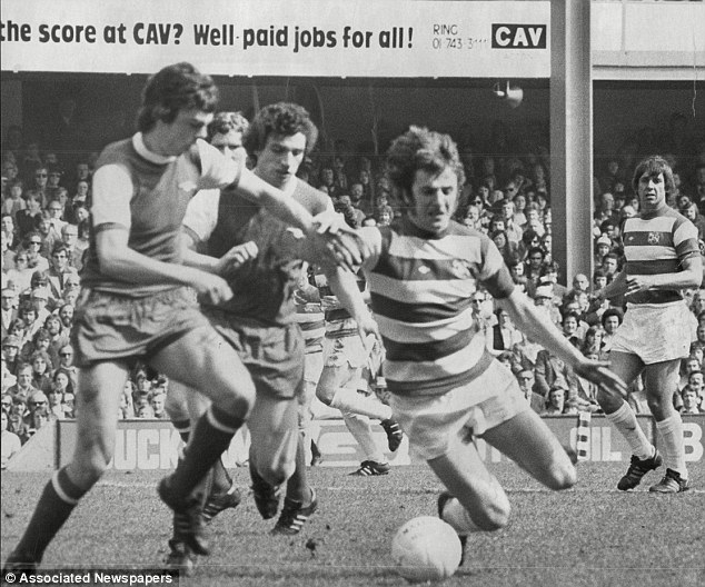Competitor: Stan Bowles takes on David O'Leary during his playing days with QPR