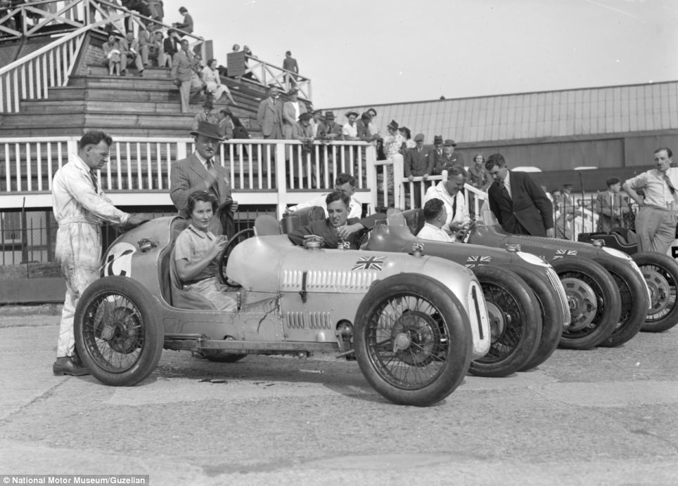 Mr Brunell's collection, including this picture showing The Austin 7 works team at Brooklands in 1937, has now been added to the online Motoring Picture Library