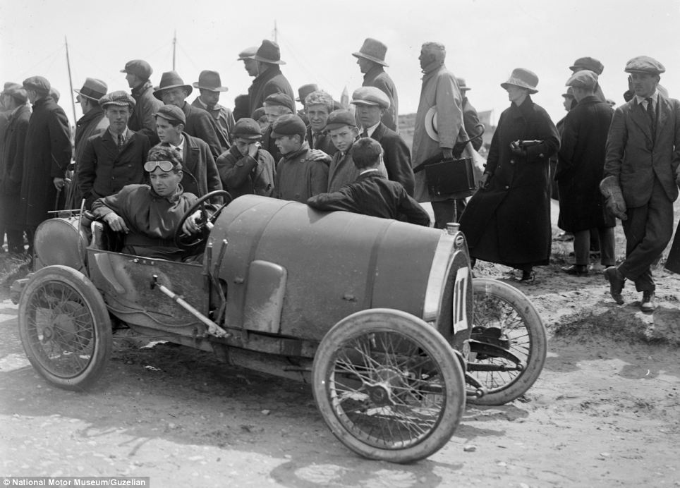Mr Brunell, who took this image of Raymond Mays in his Bugatti Brescia at the Porthcawl Circuit in Wales on June 29, 1922, famously won the Monte Carlo Rally in 1926 alongside Victor. A. Bruce