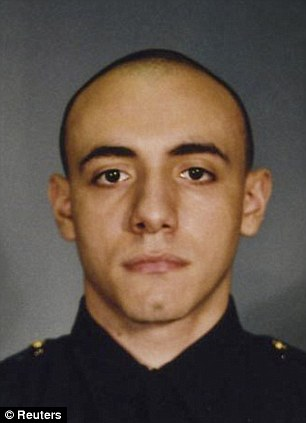Heroic death: Jersey City Police Officer Melvin Santiago was gunned down by Lawrence Campbell, a man with multiple drug convictions and suspected in a previous homicide