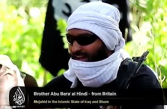 British jihadist: Abdul Raqib Amin - who appeared in a ISIS recruitment urging young Western Muslims to fight in the Middle East - has been been killed near the Iraqi city of Ramadi, it has been claimed