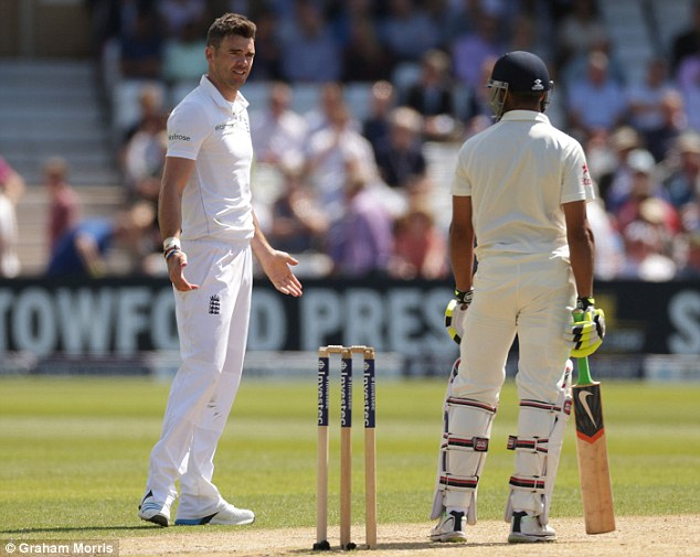Verbals: Anderson and Jadeja have a frank exchange of views out in the middle on day two of the first Test