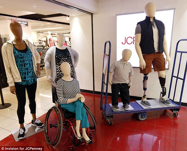 Variety: The five mannequins (pictured) were originally built for their subjects in April, as part of a segment for the Today show entitled Love your Selfies
