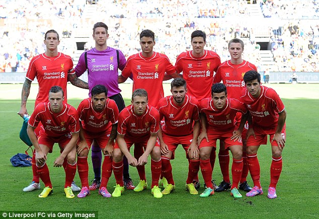 We go again! Liverpool line up for their first pre-season friendly in Denmark