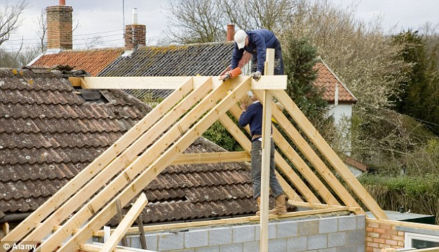 Home extension: Brokers and lenders have reported a surge in people taking out loans of £20,000 and more instead of mortgages to pay for home improvements