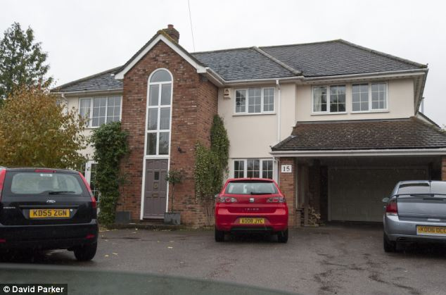 Mr Bayford previously lived with Ms Burbidge at this five-bedroom property in Haverhill, Suffolk - which he moved in to following his separation with Mrs Bayford