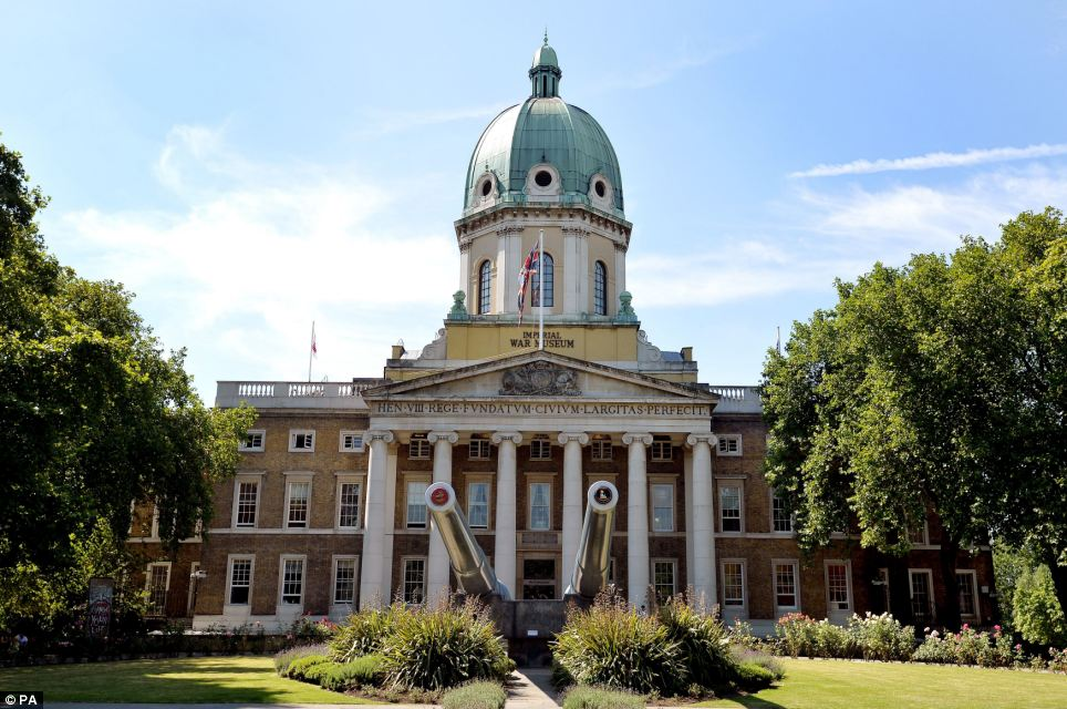 The main entrance of the refurbished Imperial War Museum on Lambeth Road in London. Its £40million renovation was supported by Daily Mail readers