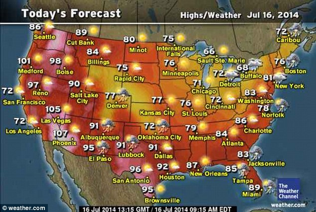 Storms continues on Wednesday on the East Coast and out west. Southern California remains hot and dry