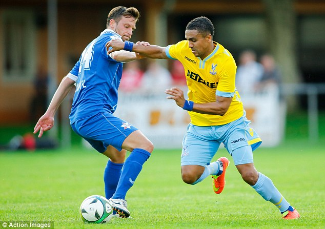 Too good: Jerome Thomas (right) breezes past a GAK Graz defender during their pre-season friendly