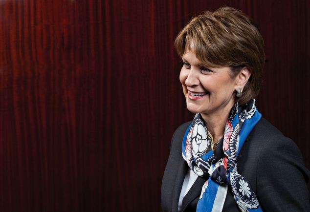 In charge: Marillyn Hewson, 60, shows few signs of the strain