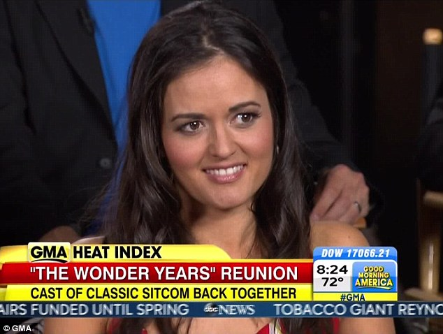 Everywhere these days: Just this week the 39-year-old beauty was on GMA talking about her Wonder Years reunion