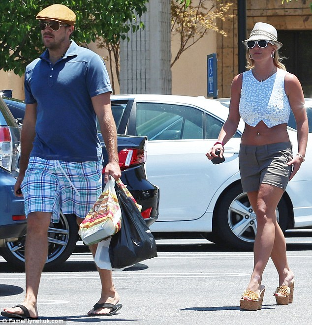 Lunch date: Brit and her boyfriend David Lucado had a financial misunderstanding at The Cheesecake Factory a few days prior