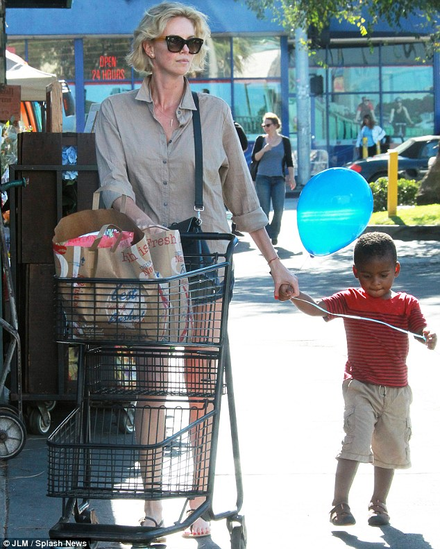 Balloon boy: She bought the adorable youngster a gift for his patience at the shop