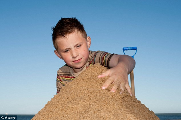 King of the castle: A third of children have never made a sandcastle, the research reveals