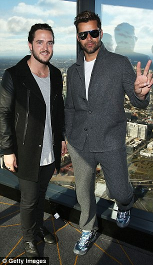 The Voice winner? Team Ricky finalist Jackson Thomas took his mentor to his hometown of Melbourne on Wednesday ahead of Monday night's Grand Final (pictured at Eureka Tower)