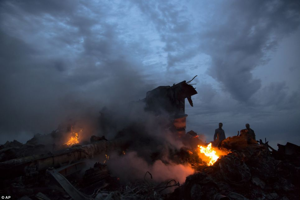 Laying the blame: The Ukrainian authorities laid the blame for the attack on the rebels by denying any responsibility for the missile launch, with President Petro Poroshenko called the downing an act of terrorism