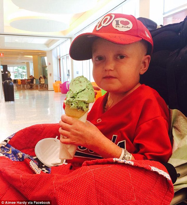 Going home: Josh Hard, 8, returned home on Thursday after his 'miracle' recovery from a combination of cancer and a kidney infection