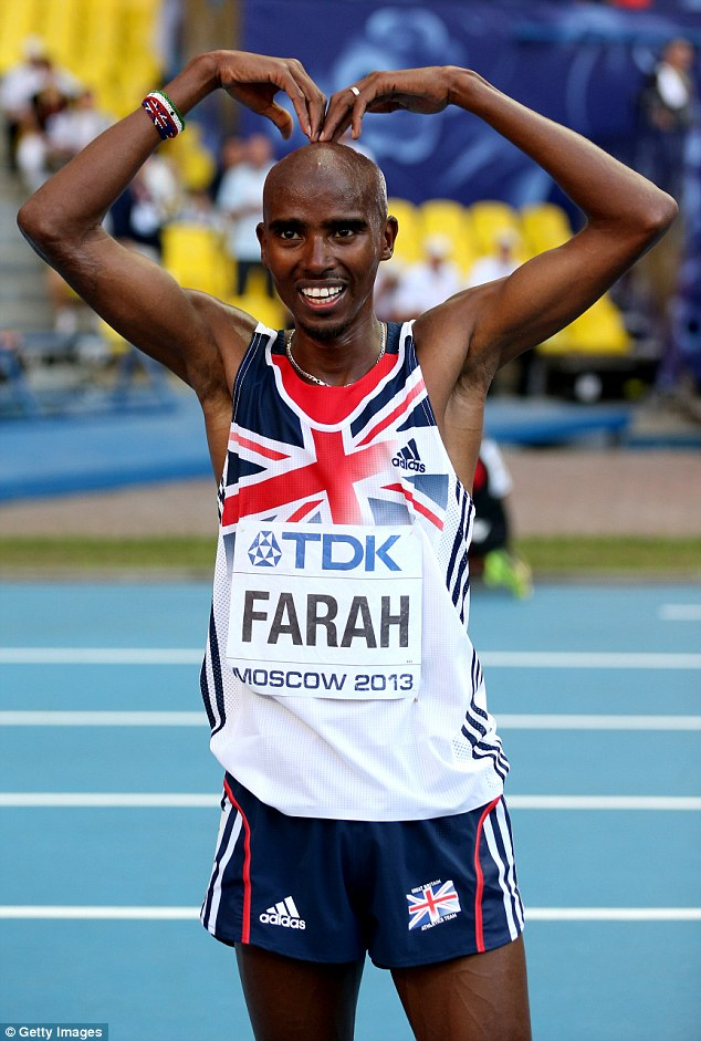 Record breaker? Farah is looking to make history by claiming both the 5,000m and 10,000m titles in Glasgow