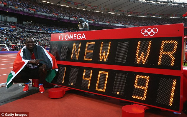 Supreme talent: David Rudisha lit up the 2012 Olympic Games when he broke the 800m world record