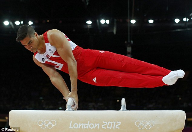 High flyer: Smith will perform on the pommel horse in Glasgow and he will hope to ride to glory