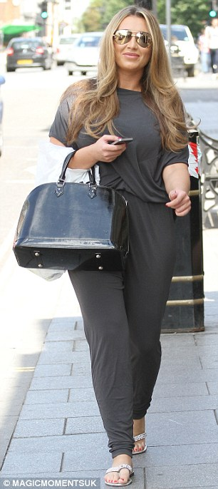 Looking good: Lauren, 27, opted for a breezy top and matching bottoms for her day out in the Essex town on Thursday