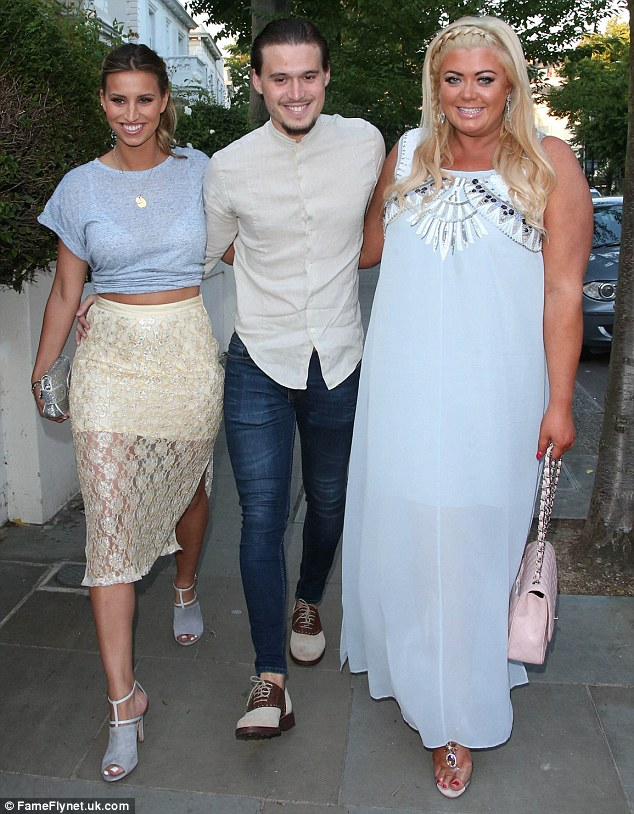 Stepping out: Ferne, Charlie Sims and Gemma Collins attended the ITV summer party in London that evening