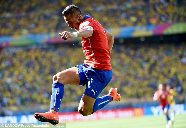 Catching up: Arsenal could play a big part in this season's title race after signing Chilean striker Alexis Sanchez from Barcelona