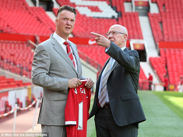 The new United boss got to know his new surroundings with club legend Sir Bobby Charlton