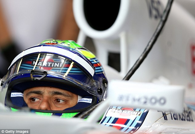 Difficult first season: Massa has crashed out of the Canadian and British GPs in his first season with Williams