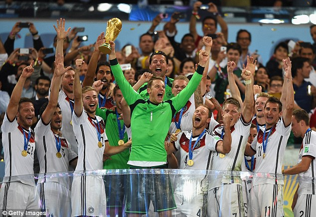 Champions! The Germany team sets the bench mark for hard work and preparation in sport