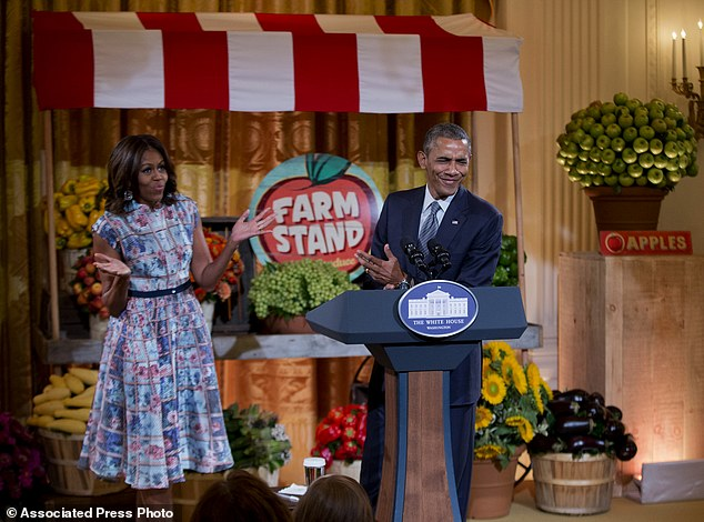 "Kids state dinner: President Barack Obama joins first lady Michelle Obama, the host of the ""Kids State Dinner' in the East Room of the White House in Washington, Friday, July 18, 2014"
