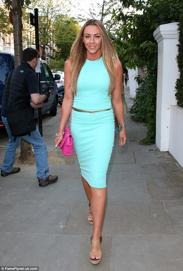 Not feeling blue: Michelle stunned in a turquoise ensemble for ITV's summer bash on Thursday night