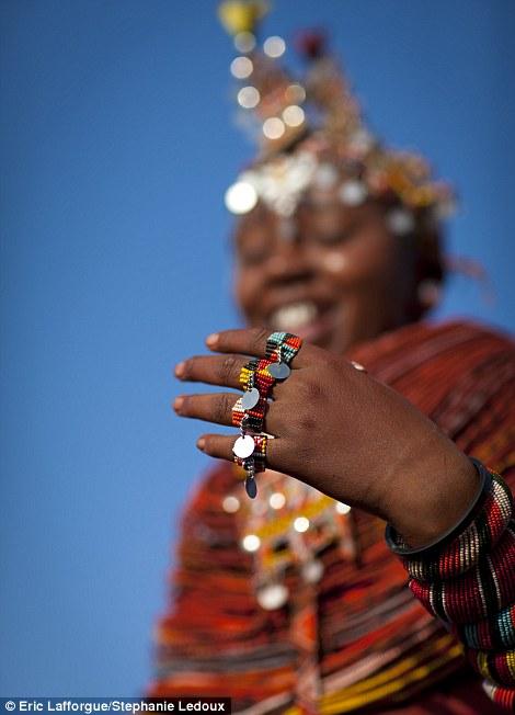 Incredible: A Samburu woman shows off her rings