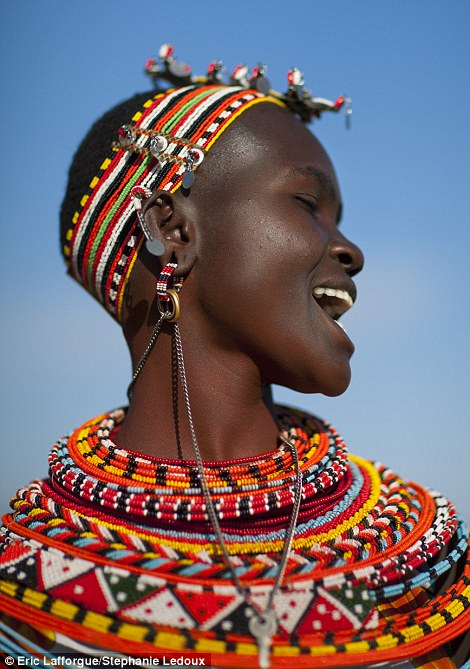 Stunning: This woman is the mother of a boy, as her extra earring reveals