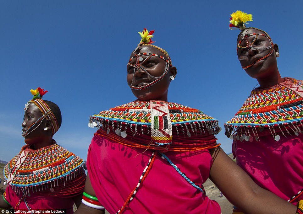 Similarities: As well as being pastoralists, both Samburu and Rendille live mostly on cow blood and milk 'smoothies' and adore colourful beads