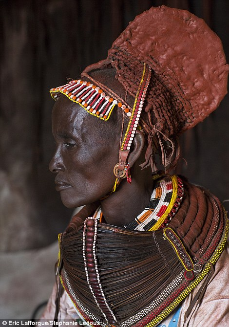 Son: The doko worn by this Rendille woman indicates that her eldest child is a boy