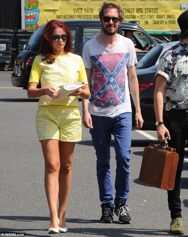 Catchup: The fashion designer stepped out with her radio co-host  in Bexleyheath