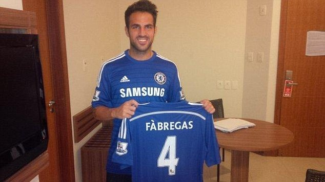 Easy decision: The Chelsea boss claimed it took just 20 minutes to convince Fabregas to join