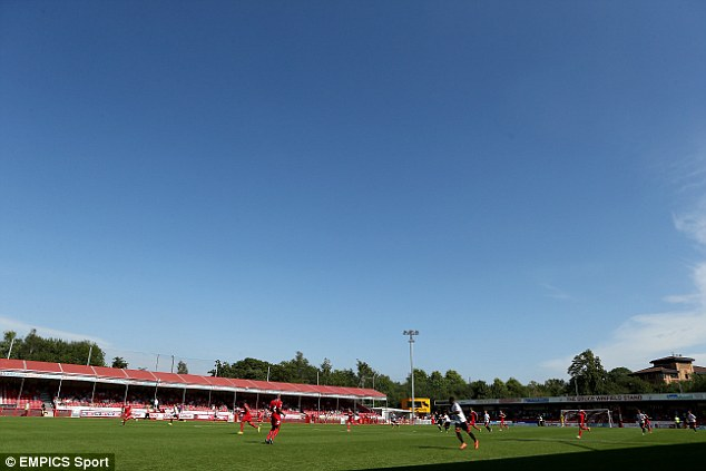 Action: Fulham and Crawley's pre-season match was a good run-out for both sides ahead of the new season