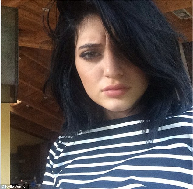 Selfie-crazy: Kylie - the youngest of the Jenner/Kardashian clan - appears to be obsessed with posting selfies these days. Seen here in an Instagram shot from July 15