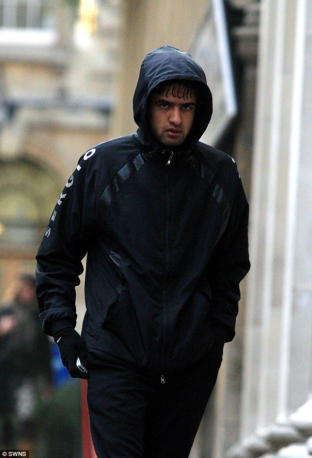 Amjad Qazi ,19, arrives at Bristol Crown Court. Amjad is one of the accused in the case of attacking Henry Webster... The trial at Bristol Crown Court of seven Asian men accused of attacking Henry Webster 17 and using a hammer which left Henry with brain injuries.