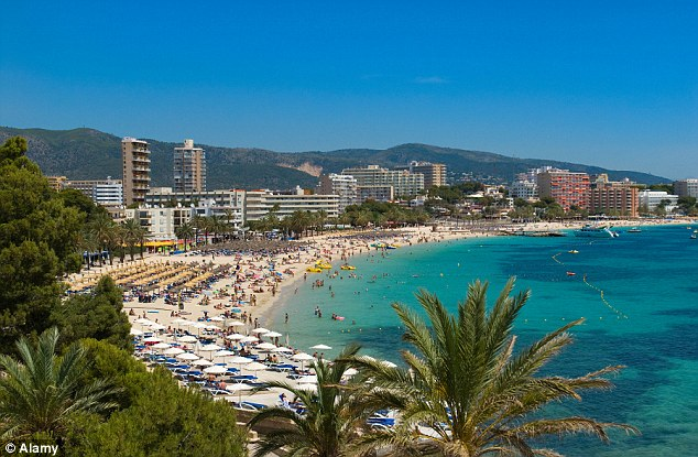 Delays: Flights were delayed for holidaymakers on their way home from sunshine breaks in Majorca