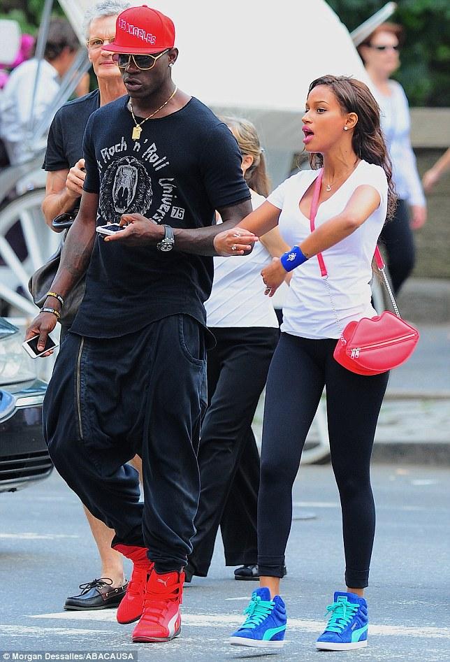 Brand ambassadors: Both Mario and Fanny were wearing trainers by Mario's sponsor, sportswear brand Puma