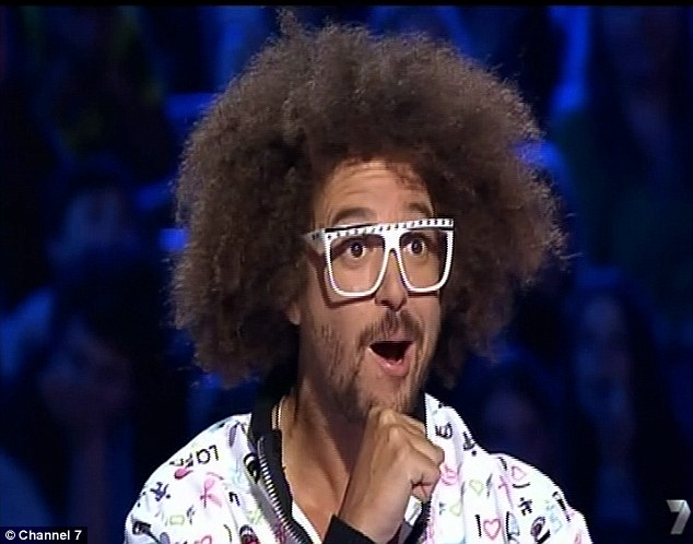 Impressed: LMFAO rapper Redfoo is stunned by Alice's singing and predicts she will be the next pop star