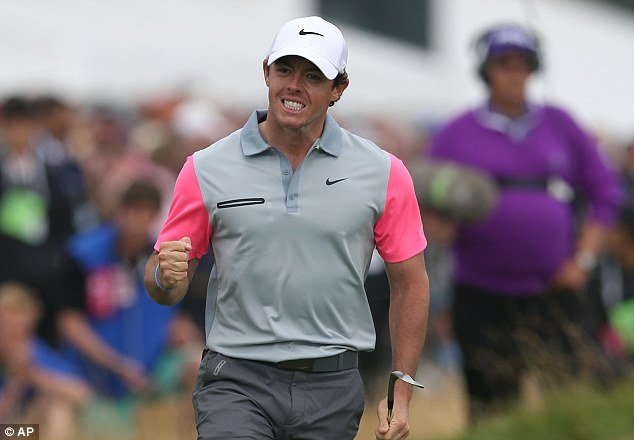 Winner: Rory McIlroy has won his third Grand Slam at the age of 25, becoming only the third to do so